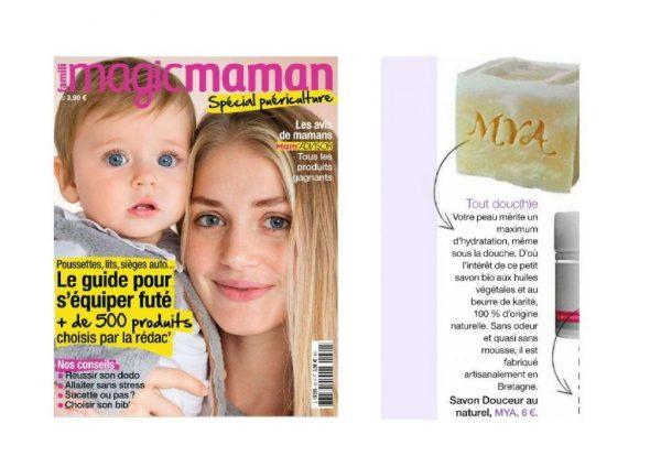 Article Magic Maman cosmétiques et savons naturels et bio Mya