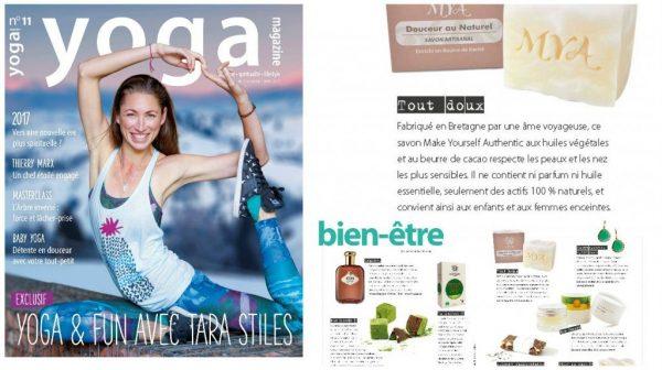 Article Yoga cosmétiques et savons naturels et bio Mya