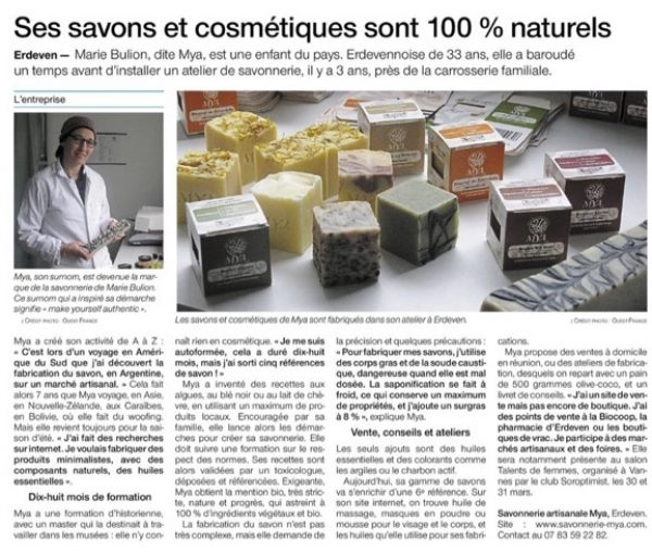 Savonner Mya dans Kiosque Ouest France